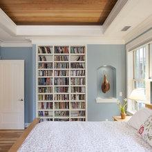wall shelves in bedroom