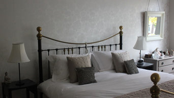 Master bedroom in a Victorian property redesign