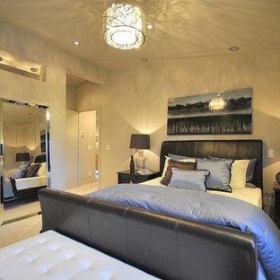 Inspiration for a modern bedroom remodel in Edmonton
