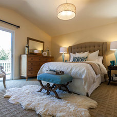 Transitional Bedroom by Janice Peters, Distinctive Decor
