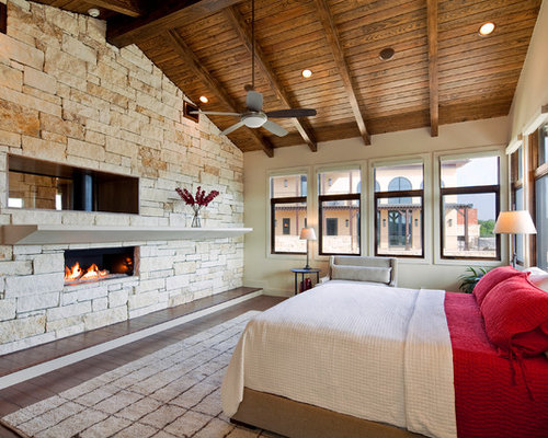 Grand Fireplace W Vaulted Ceilings Beams Open Floor: Wood Ceiling Ideas, Pictures, Remodel And Decor