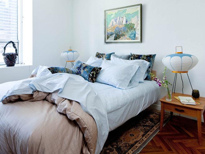 Midcentury Bedroom by Kristen Rivoli Interior Design
