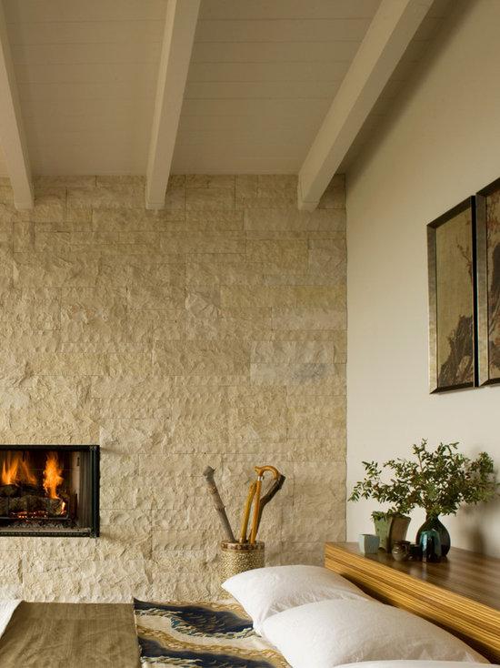 Stone Wall Fireplace Houzz