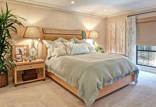 Asiático Dormitorio by Laura Birns Design Eco-Furnishings