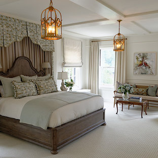 Bedroom - huge traditional bedroom idea in St Louis