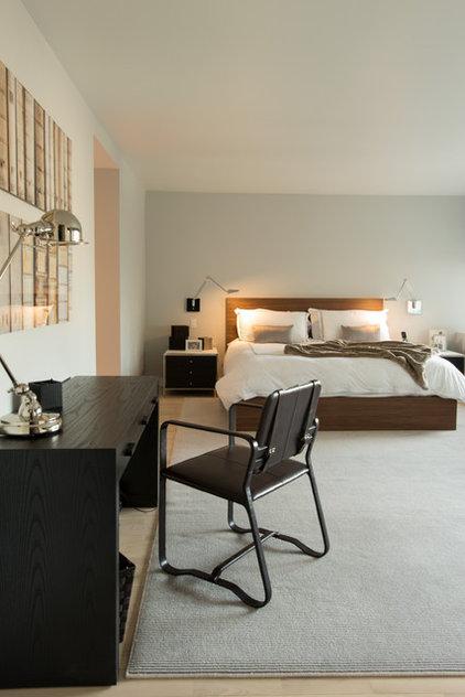 Contemporary Bedroom by Lauren Held Designs, LLC