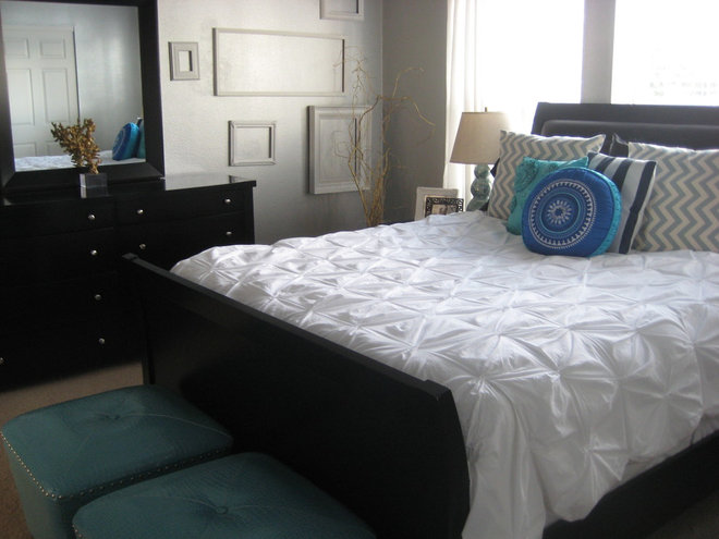 Transitional Bedroom by Leah
