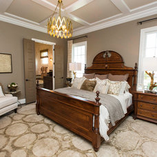 Transitional Bedroom by Leslie Lewis & Associates