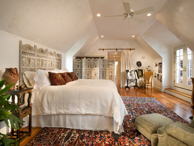 Eclectic Bedroom by McNally Interiors