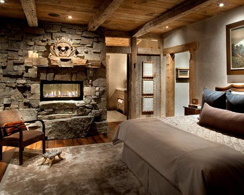 Rustikale Schlafzimmer rustikale schlafzimmer mit tunnelkamin ideen design bilder houzz