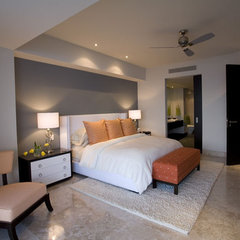 modern bedroom by Christopher James Interiors