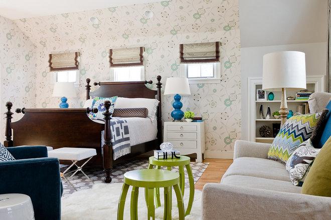 Transitional Bedroom by Rachel Reider Interiors