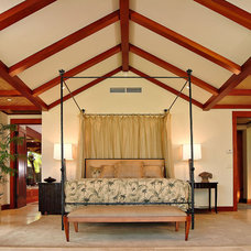 Tropical Bedroom by Saint Dizier Design