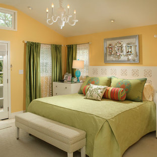 green and yellow walls houzz