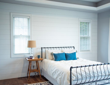 Master Bedroom Shiplap Accent Wall