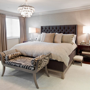 Master Bedroom With Tufted Headboard Ideas Photos Houzz
