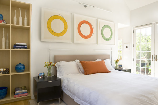 Beach Style Bedroom by Sightline Art Consulting