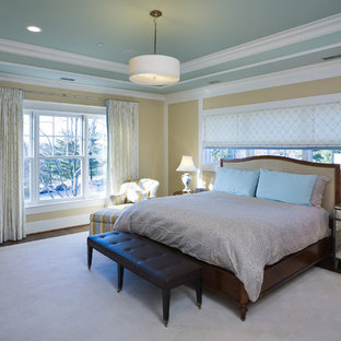 Example of a trendy master bedroom design in DC Metro