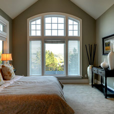 Contemporary Bedroom by Synergy Staging