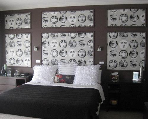 Fornasetti Faces Wallpaper Cole Son Master Bedroom