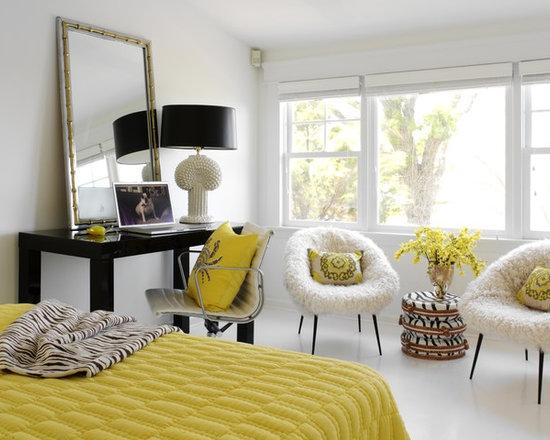 Gray Yellow Bedroom yellow and gray bedroom | houzz