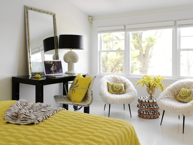 Eclectic Bedroom by Tara Seawright Interior Design