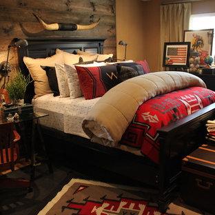 Diseño de dormitorio principal de estilo americano