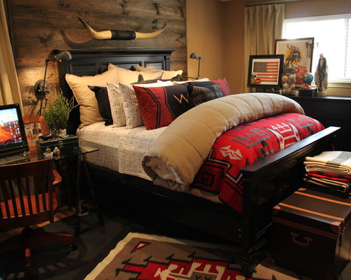 western bedroom ideas, pictures, remodel and decor,