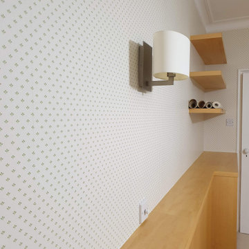 Master bedroom Wallpaper installation in Chiswick W4