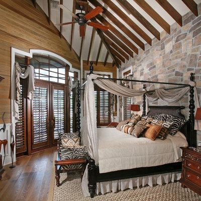 Bedroom - mediterranean master bedroom idea in Miami