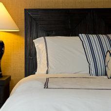 Tropical Bedroom by Laura Evans Interiors at Urban I.D.