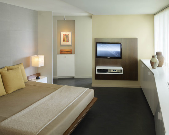 Modern Bedroom Pictures With Tv modern bedroom suspended tv unit | houzz