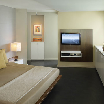 Master Bedroom with Custom Bed & Media Center