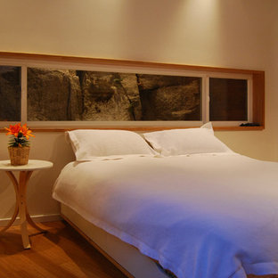 Master Bedroom with Framed rock view