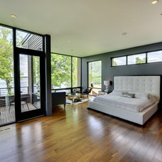 Contemporary Bedroom Master bedroom with lake view