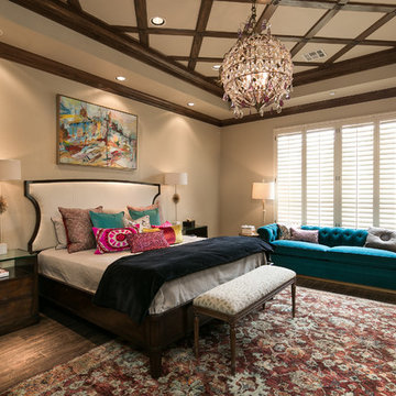 Master Bedroom With Lighting Design and Colorful Pillows