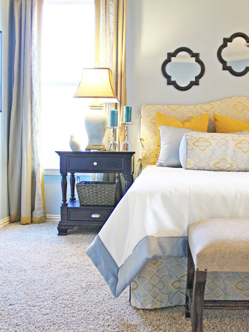 Blue And Yellow Bedroom | Houzz