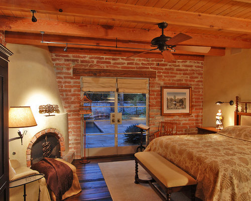 Burnt Adobe Brick Home Design Ideas Pictures Remodel And