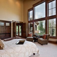 Transitional Bedroom by Jaffa Group Design Build