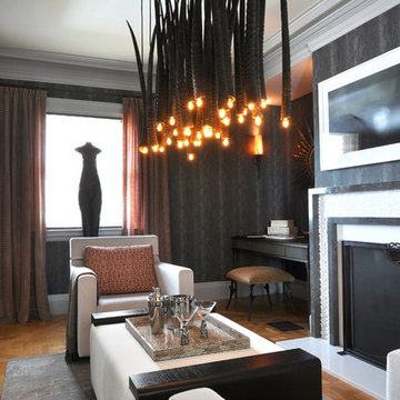 Master Sitting Room by Z Dimensions Interior Design