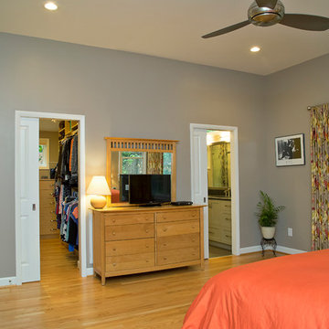 Master Suite Addition with Orange Accents