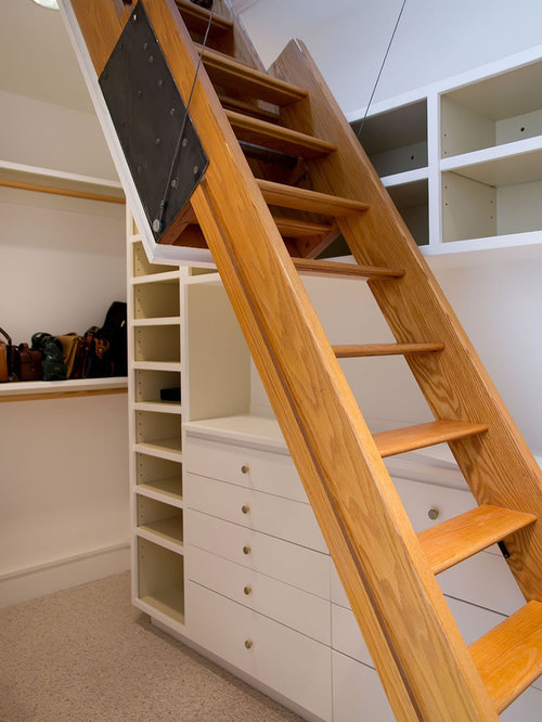 Attic ladder houzz Motorized attic stairs