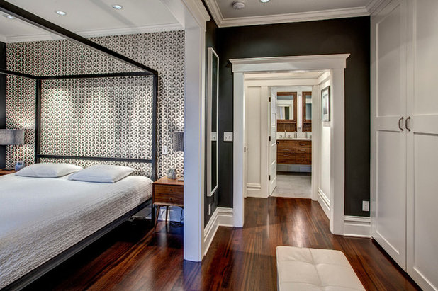 Transitional Bedroom by Board & Vellum