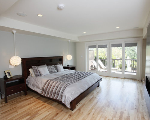 Garage conversion houzz for Converting a garage into a bedroom and bathroom