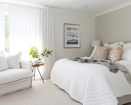 beach design bedroom. Large Beach Style Master Bedroom In Gold Coast - Tweed With White Walls, Carpet And Design