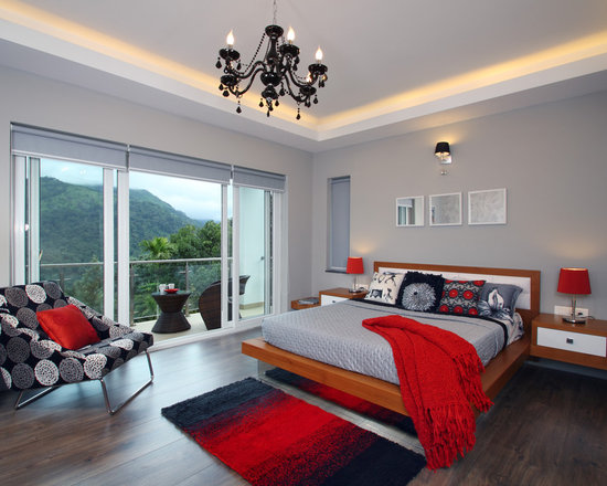 Red Master Bedroom Houzz