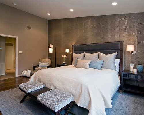 brown wallpaper home design ideas pictures remodel and decor 13770 | 8c21edbe013d3779 1160 w500 h400 b0 p0 contemporary bedroom