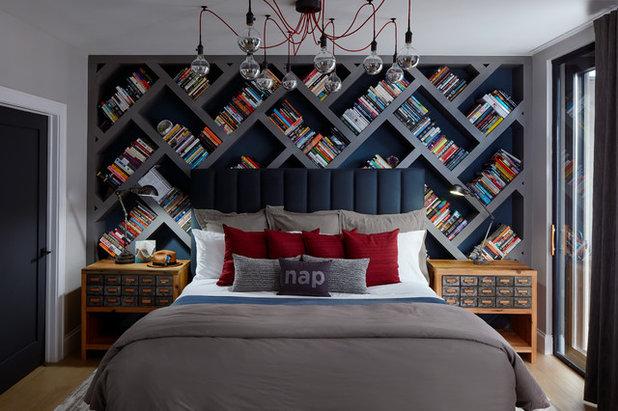 8 testiere del letto che sono anche librerie belle e for Contenitori camera da letto