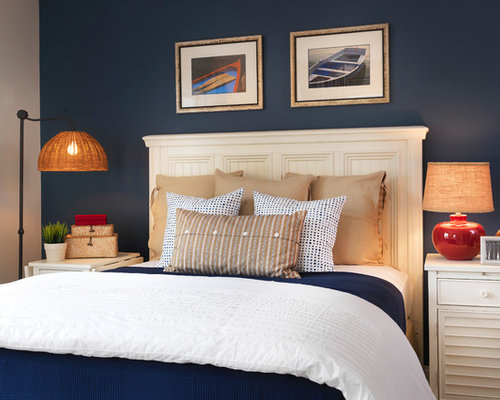 Dark Blue Accent Wall Home Design Ideas Pictures Remodel