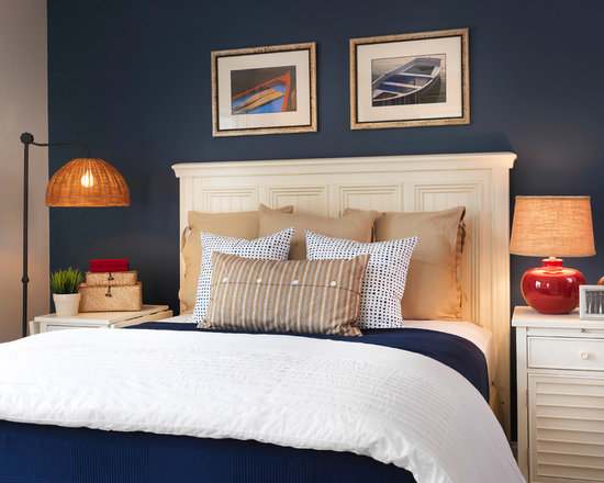 blue accent wall | houzz
